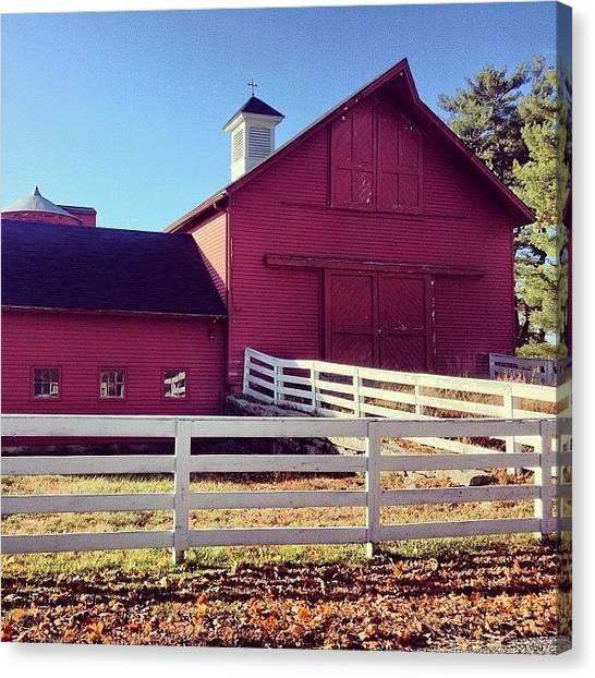 Rhode Island Canvas Print - Old Barn In Western Rhode Island by Jason Fourquet