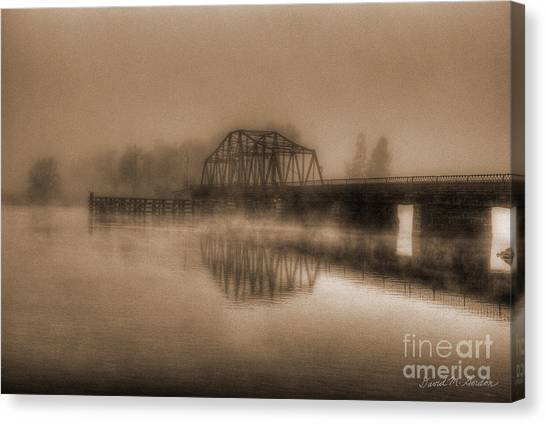 Old Berkley Dighton Bridge Canvas Print