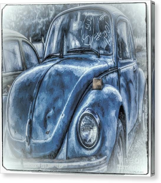 Old Blue Bug Canvas Print