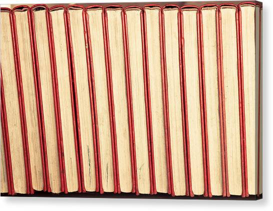 Brown University Canvas Print - Old Books by Tom Gowanlock