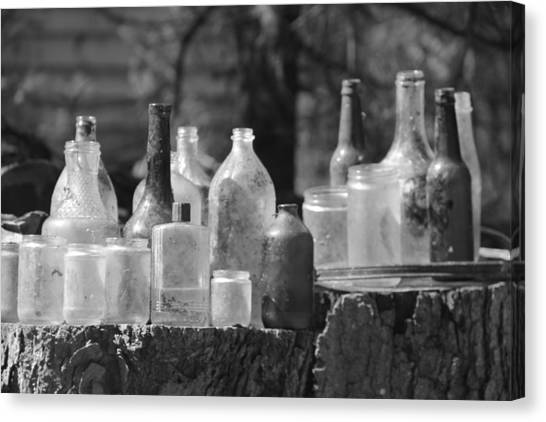 Old Bottles Canvas Print by Sarah Klessig