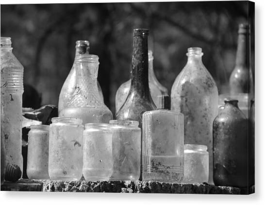 Old Bottles Two Canvas Print by Sarah Klessig