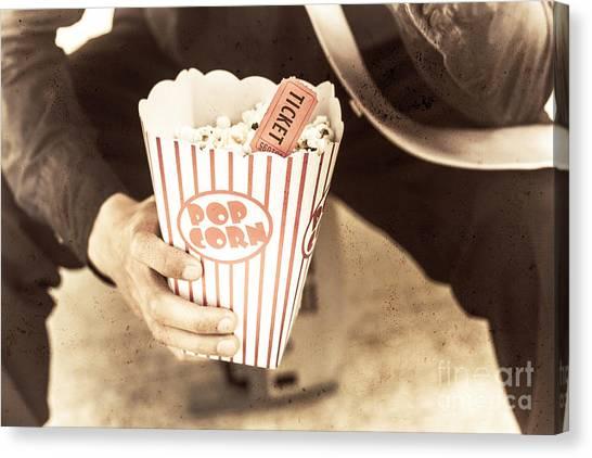 Popcorn Canvas Print - Old Box Of Retro Popcorn by Jorgo Photography - Wall Art Gallery