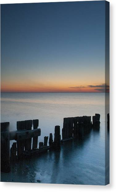 Old Breakwater Canvas Print
