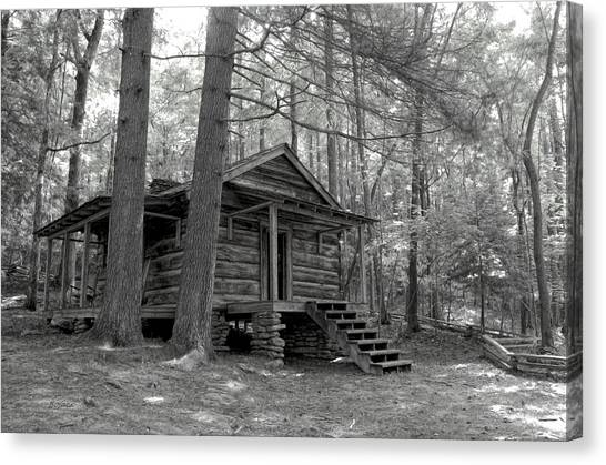 Old Cabin  Canvas Print by Bob Jackson