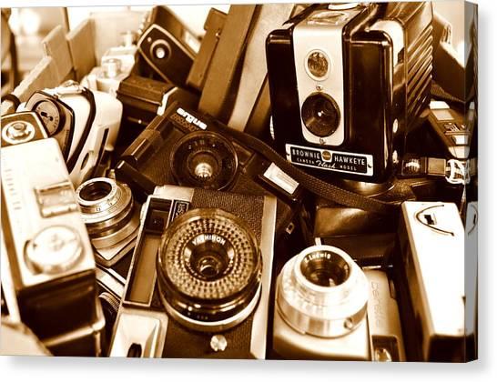 Old Cameras Canvas Print by Marina Slusar