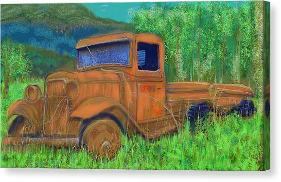 Old Canadian Truck Canvas Print