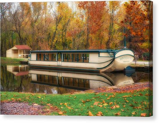 Old Canal Boat Canvas Print