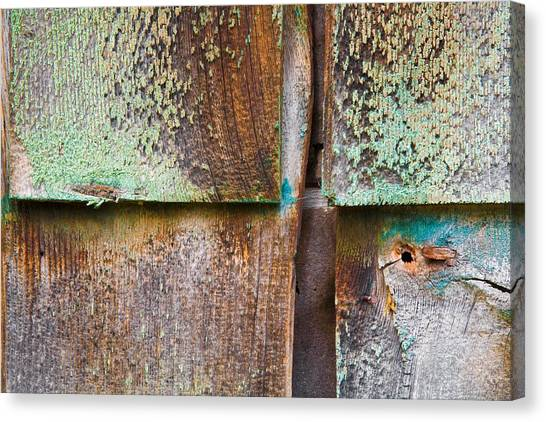Old Cedar Shingles 1740 Canvas Print by Bob Hills
