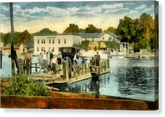 Old Chain Ferry Saugatuck Michigan Canvas Print