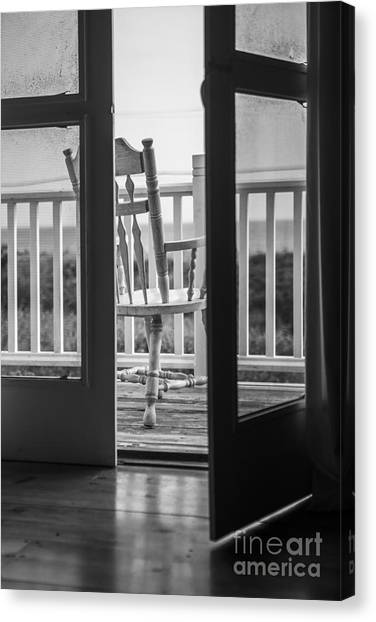 Door Canvas Print - Old Chair At The Beach House by Diane Diederich
