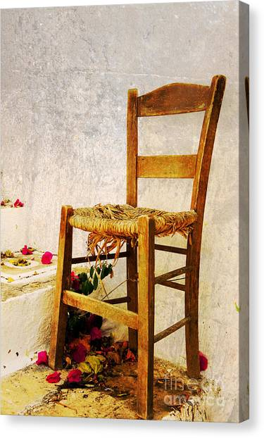 Old Chair Canvas Print by Christos Dimou