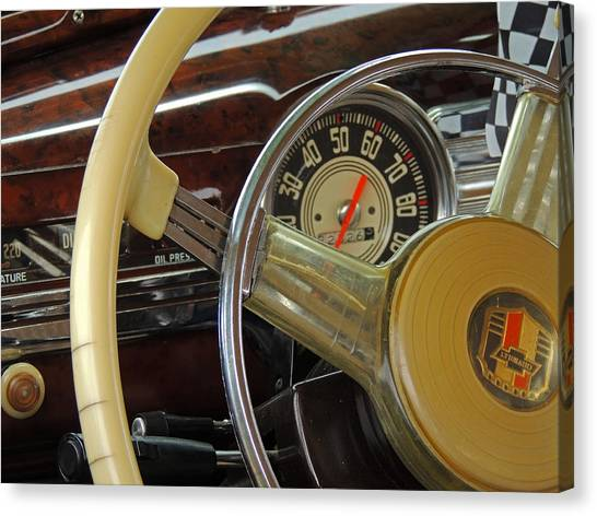 Fun Run Canvas Print - Old Chevy by Donna Lee Young