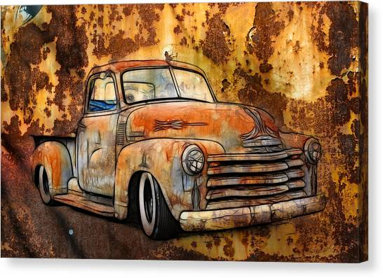 Canvas Print - Old Chevy Rust by Steve McKinzie