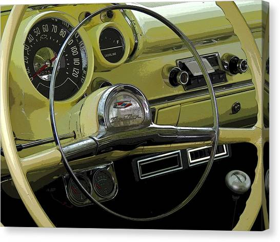 Fun Run Canvas Print - Old Chevy Two Ten by Donna Lee Young