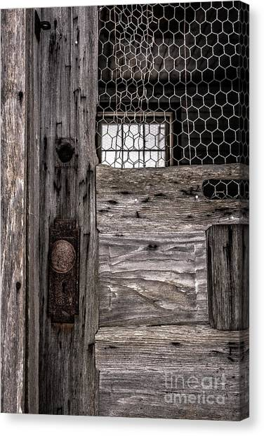 Chicken Farms Canvas Print - Old Chicken Coop by Edward Fielding