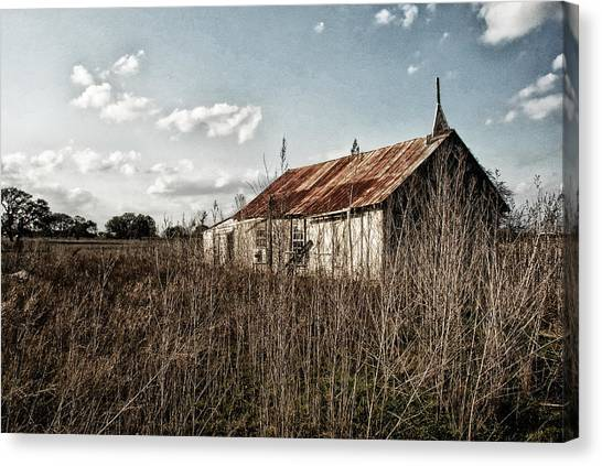 Old Church At Muldoon Canvas Print
