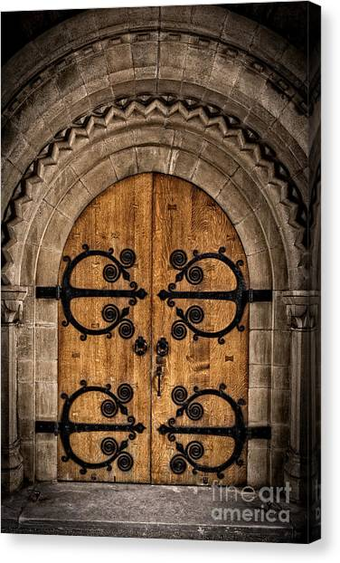 Fortification Canvas Print - Old Church Door by Edward Fielding