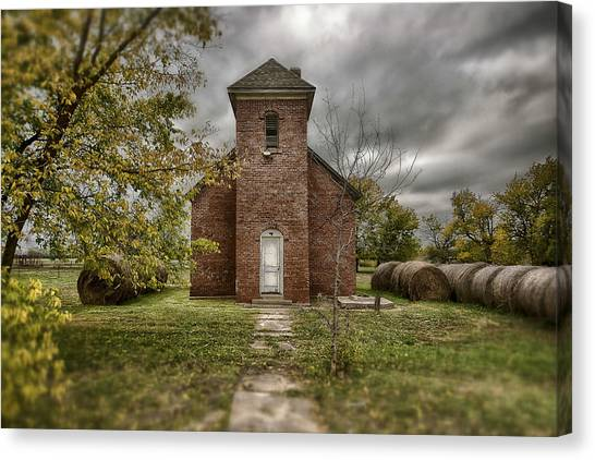 Old Church In Fall Canvas Print