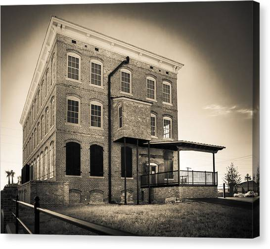 Old Cigar Factory Canvas Print by Ybor Photography