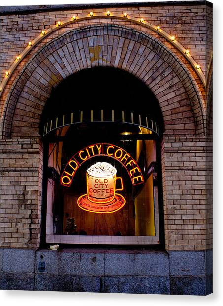Old City Coffee Canvas Print