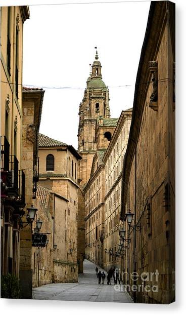 Old City Of Salamanca Spain Canvas Print