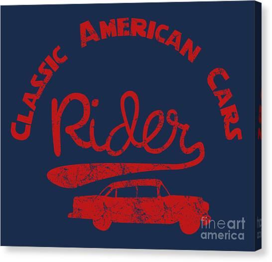 Speed Canvas Print - Old Classic American Car Havana Cuba by A1vector