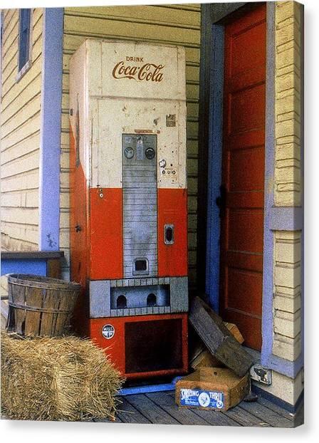 Old Coke Machine Canvas Print