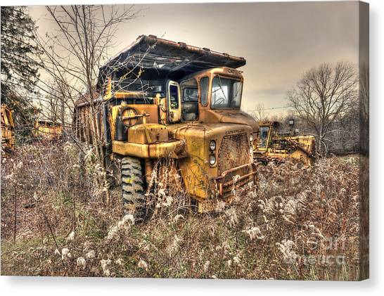 Old Construction Truck Canvas Print by Dan Friend