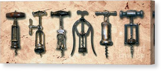 Cognac Canvas Print - Old Corkscrews Painting by Jon Neidert