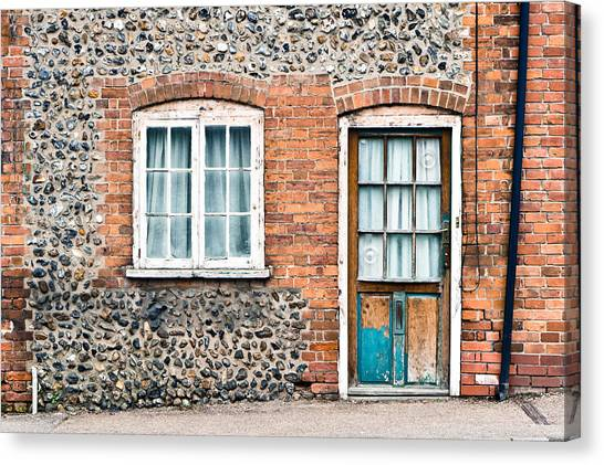 Window Canvas Print - Old Cottage by Tom Gowanlock