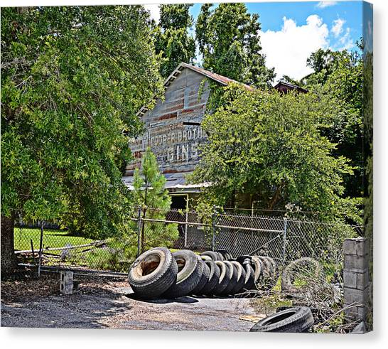 Old Cotton Gin Canvas Print