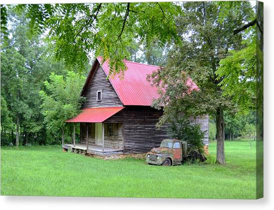 Old Country Cabin Canvas Print by Bob Jackson