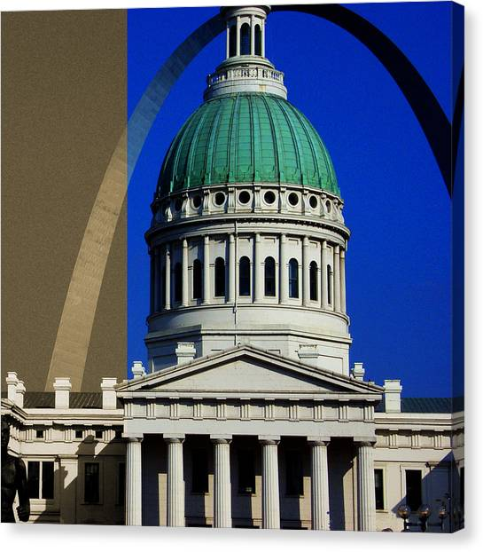 Old Courthouse Dome Arch Canvas Print