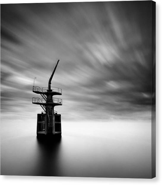 Cranes Canvas Print - Old Crane by Dave Bowman