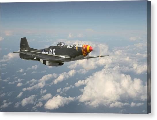 Luftwaffe Canvas Print - P51 Mustang - 'old Crow' by Pat Speirs
