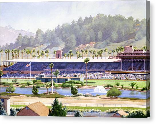 Planets Canvas Print - Old Del Mar Race Track by Mary Helmreich