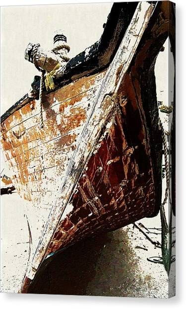 The Old Dhow Canvas Print by Peter Waters