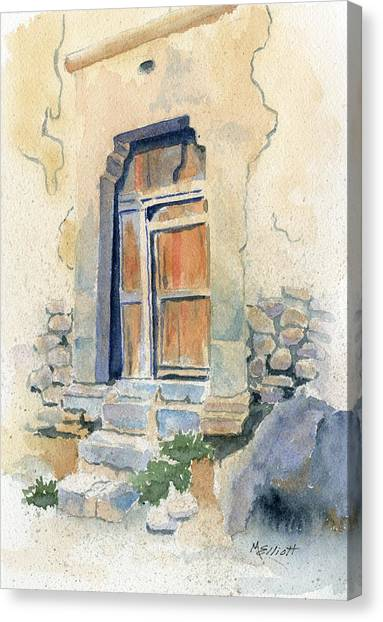 Peruvian Canvas Print - Old Door In Cuzco Peru by Marsha Elliott