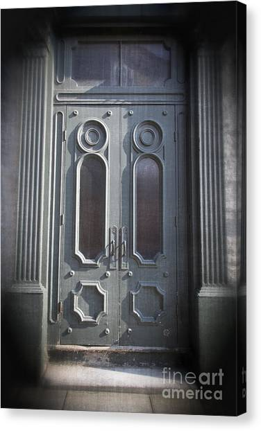 Quebec Canvas Print - Old Doorway Quebec City by Edward Fielding