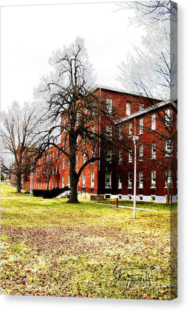 Eastern Kentucky University Canvas Print - Old Dorm Buildings At Esh by GG Burns