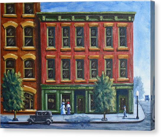 Old Downtown Canvas Print