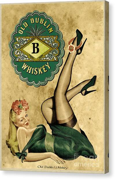 Pin-up Canvas Print - Old Dublin Whiskey by Cinema Photography