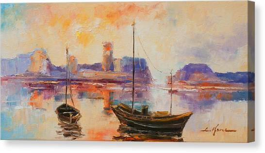 Old Dunbar Harbour Canvas Print