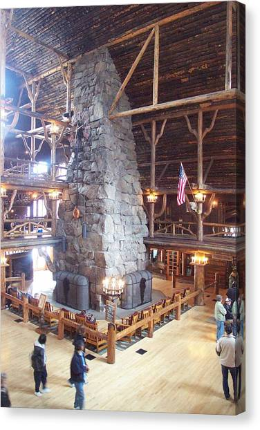 Old Faithful Inn Canvas Print