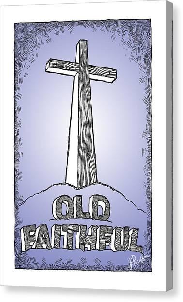 Old Faithful Canvas Print