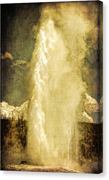 Old Faithful Memories Canvas Print