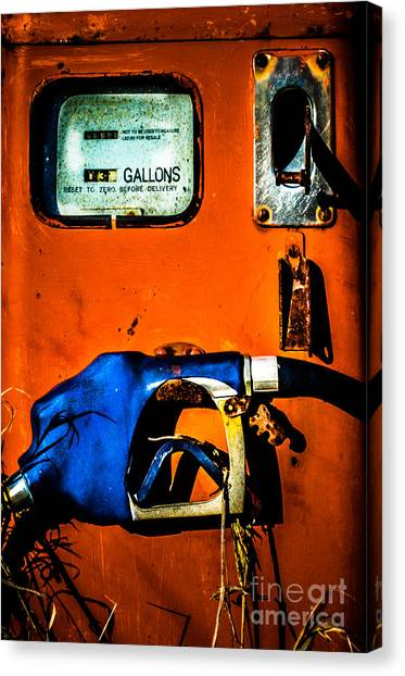 Old Farm Gas Pump Canvas Print