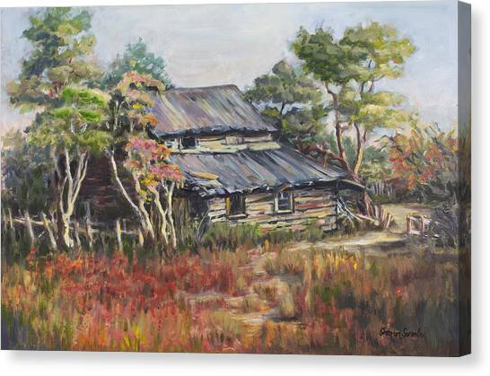 Old Farm House Canvas Print