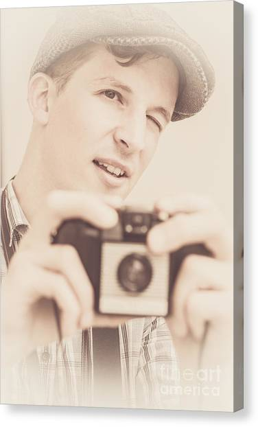 Compose Canvas Print - Old Fashion Male Freelance Photographer by Jorgo Photography - Wall Art Gallery
